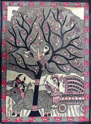 Indian Tribal Art Painting - Ckala 14 by Chandarkala Devi