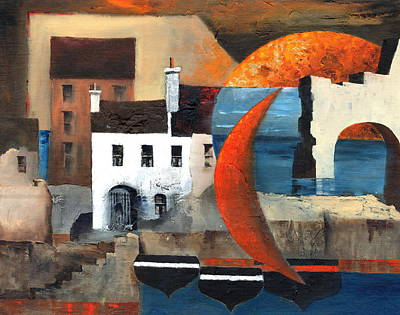 Painting - Cladagh Harbour by Val Byrne