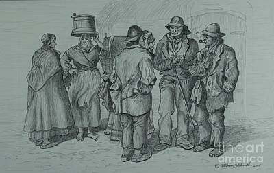 Drawing - Claddagh People 1873 by William Goldsmith
