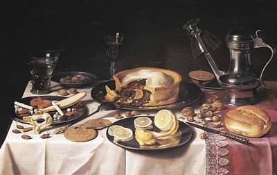 Oil Knife Photograph - Claesz, Pieter 1597-1661. Still Life by Everett