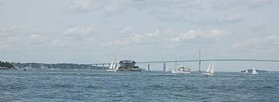 Photograph - Clairborne Pell Bridge And Rose Island by Christopher James