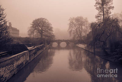 Photograph - Claire College Bridge Cambridge by David Warrington