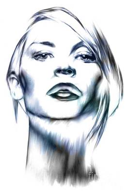 Mixed Media - Claire Danes by Wu Wei
