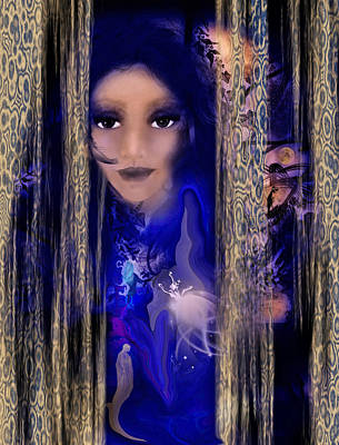 Intuitive Digital Art - Clairvoyant Seven by Patricia Motley