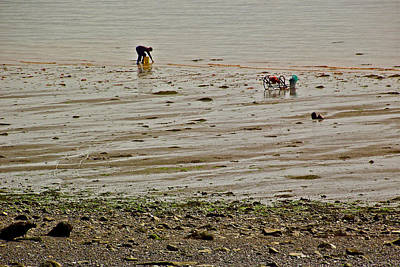 Clam Digger In Fundy Bay-ns Art Print