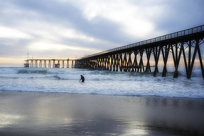 Beach Photograph - Clamming On Rosarito Beach by Hugh Smith