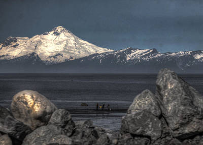 Clamming On The Cook Inlet Art Print by David Kehrli