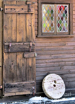 Photograph - Clapboard And Stained Glass by Janice Drew