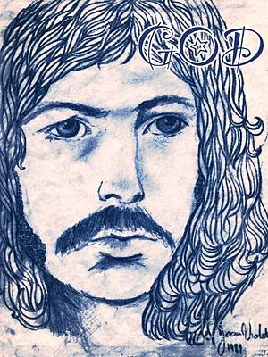 Eric Clapton Drawing - Clapton 1970's Rock God by Joan-Violet Stretch