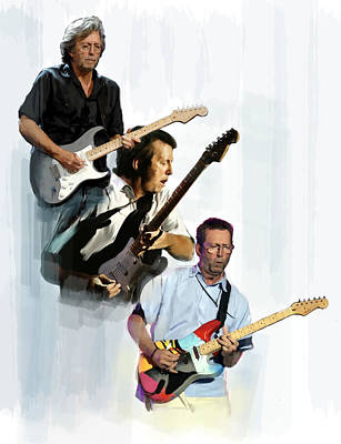 Eric Clapton Painting - Clapton Eric Clapton by Iconic Images Art Gallery David Pucciarelli