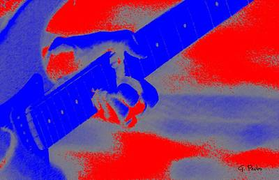 Digital Art - Clapton Plays Guitar by George Pedro