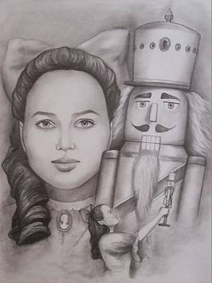 Stanford Drawing - Clara And The Nutcracker by Amber Stanford