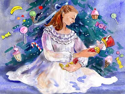 Painting - Clara And The Nutcracker by Kathleen  Gwinnett