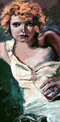 Painting - Clara Bow Silent Movies Flapper Girl by Ginette Callaway