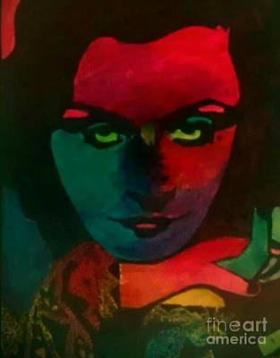 Mixed Media - Clara Rainbow by Bonnie Cushman