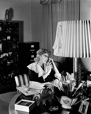 Clare Boothe Luce At Her Desk Art Print by Horst P. Horst