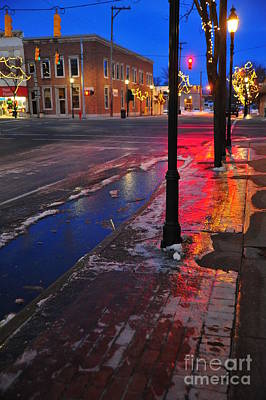 Clare Michigan At Christmas 10 Art Print by Terri Gostola
