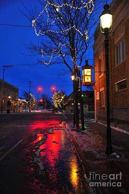 Clare Michigan Photograph - Clare Michigan At Christmas 9 by Terri Gostola