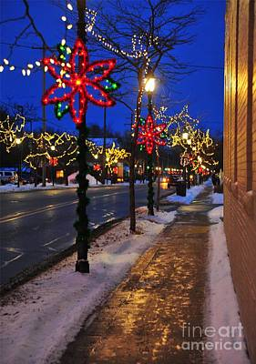 Clare Michigan Decorated For Christmas 2 Art Print