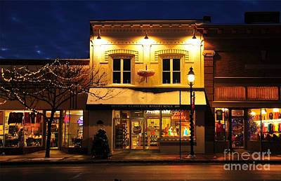 Clare Michigan Decorated For Christmas 3 Art Print
