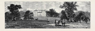 Esher Drawing - Claremont House, Esher by English School