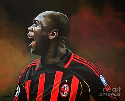 Coaching Painting - Clarence Seedorf by Paul Meijering