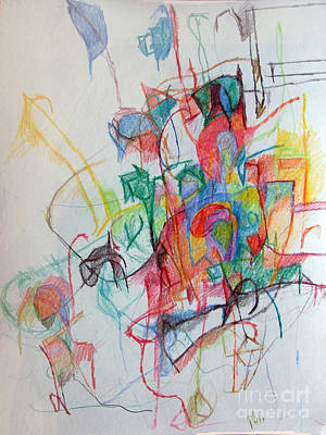 Creativity Drawing - Clarification 1 by David Baruch Wolk