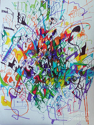 Creativity Drawing - Clarification 2 by David Baruch Wolk