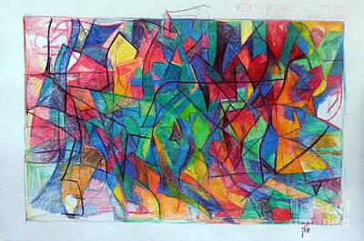 Creativity Drawing - Clarification 5 by David Baruch Wolk