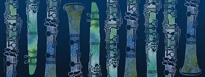 Clarinet Blues Art Print by Jenny Armitage