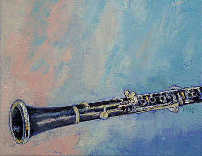 Musica Painting - Clarinet by Michael Creese