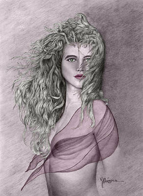 Drawing - Clarise II by Joe Olivares
