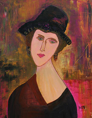 Painting - Clarisse  by Oscar Penalber
