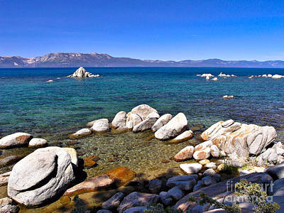 Photograph - Clarity - Lake Tahoe by John Waclo