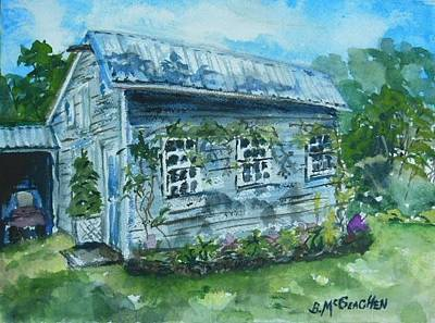 Painting - Clark Bed And Breakfast Barn by Barbara McGeachen
