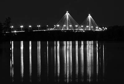Photograph - Clark Bridge In Black And White by Scott Rackers