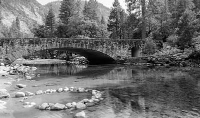 Photograph - Clark Bridge In Yosemite Valley by John M Bailey