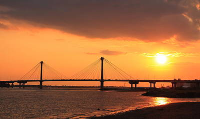 Photograph - Clark Bridge Sundown by Scott Rackers
