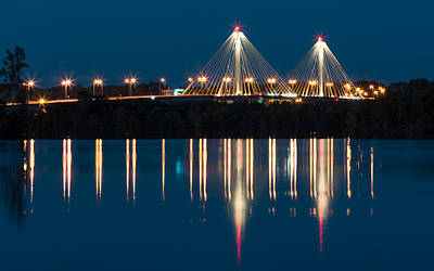 Photograph - Clark Bridge To Alton by Scott Rackers