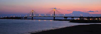 Photograph - Clark Bridge Twilight Panorama by Scott Rackers