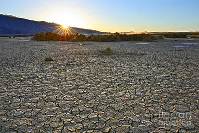 Clark Dry Lake Located In Anza Borrego Desert State Park In California. Art Print by Jamie Pham
