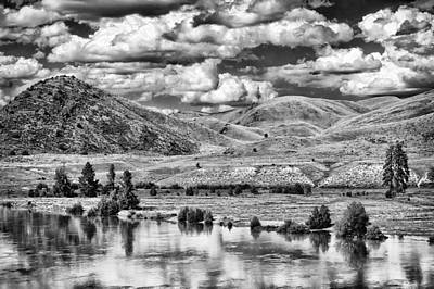 Bank Clouds Hills Photograph - Clark Fork River Bursting Its Banks by Paul W Sharpe Aka Wizard of Wonders