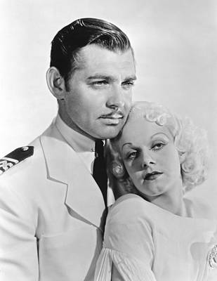 Clark Gable & Jean Harlow Art Print by Underwood Archives