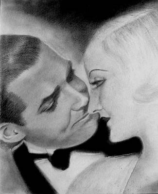 Drawing - Clark Gable And  Carole Lombard by Derrick Parsons