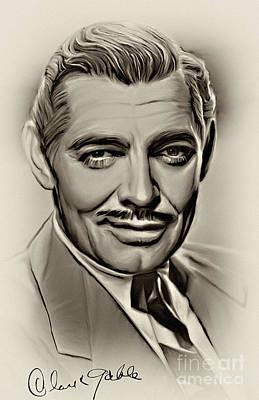 Clark Gable Original by Andrzej Szczerski
