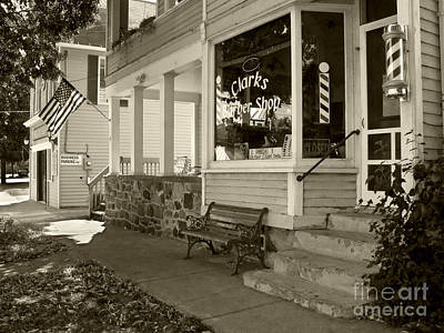 Photograph - Clarks Barber Shop by Tom Brickhouse