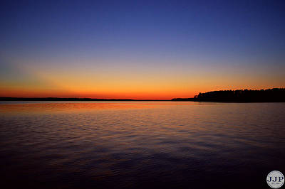 Clarks Hill Lake Photograph - Clark's Hill Sunset by Joseph Johns