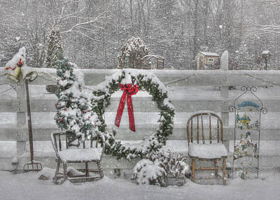 Winter Storm Digital Art - Clarks Valley Christmas 3 by Lori Deiter