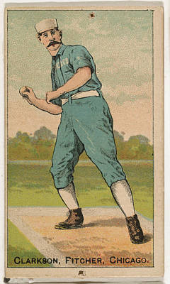 Baseball Cards Drawing - Clarkson, Pitcher, Chicago by D. Buchner & Co., New York