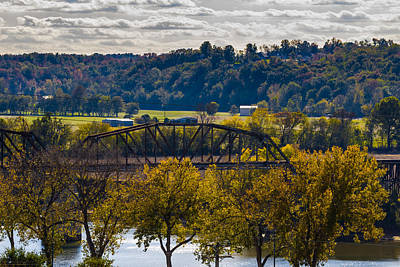 Photograph - Clarksville Railroad Bridge by Ed Gleichman